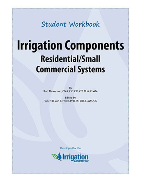 irrigation components residential small commercial systems