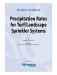 Precipitation Rates for Turf/Landscape Student Workbook